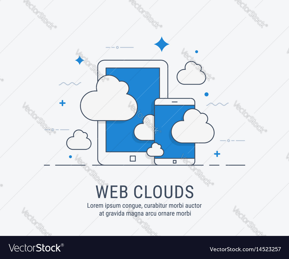 Web clouds for web vector image