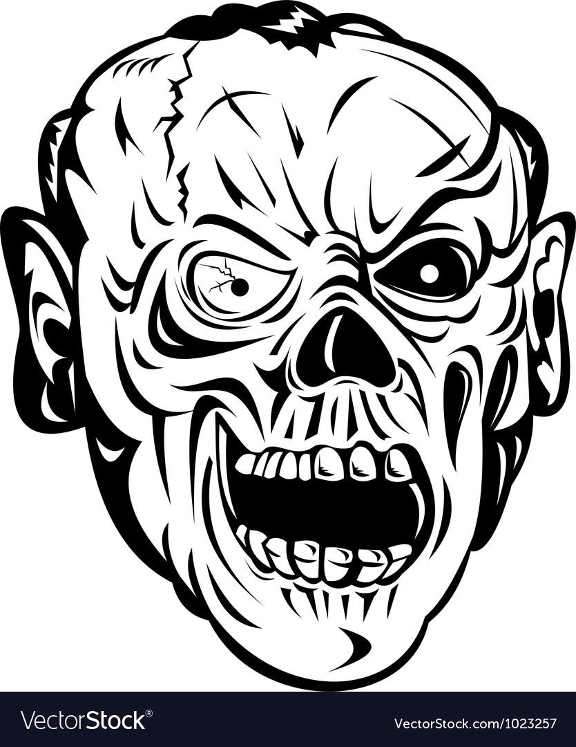 Zombie Skull Face Monster vector image