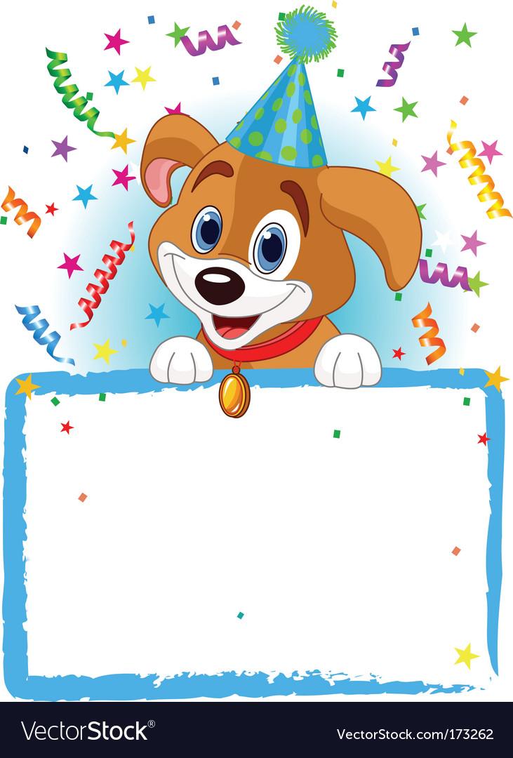 Baby dog birthday Royalty Free Vector Image - VectorStock