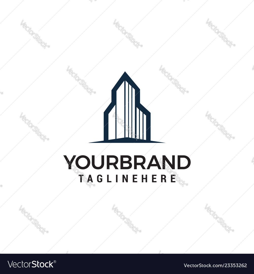 Building town logo template design