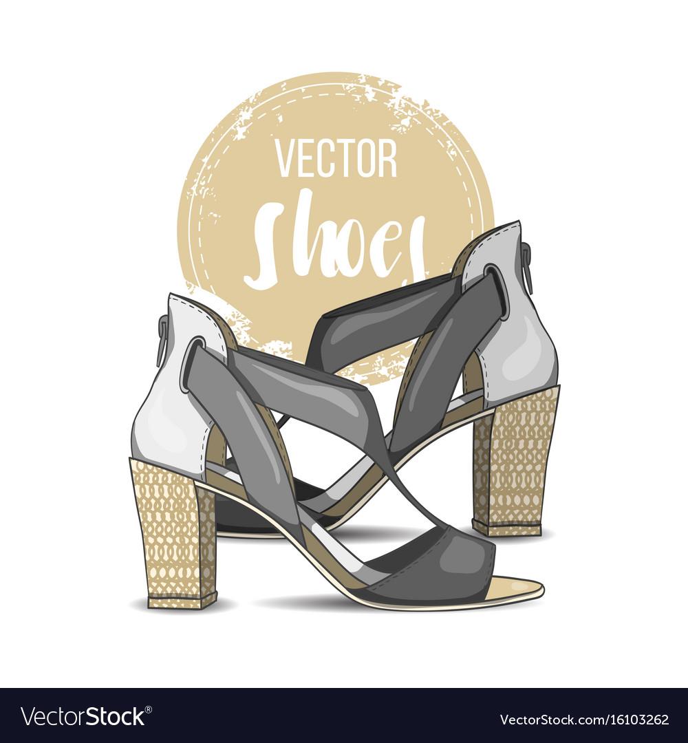 Fashion color womens shoes