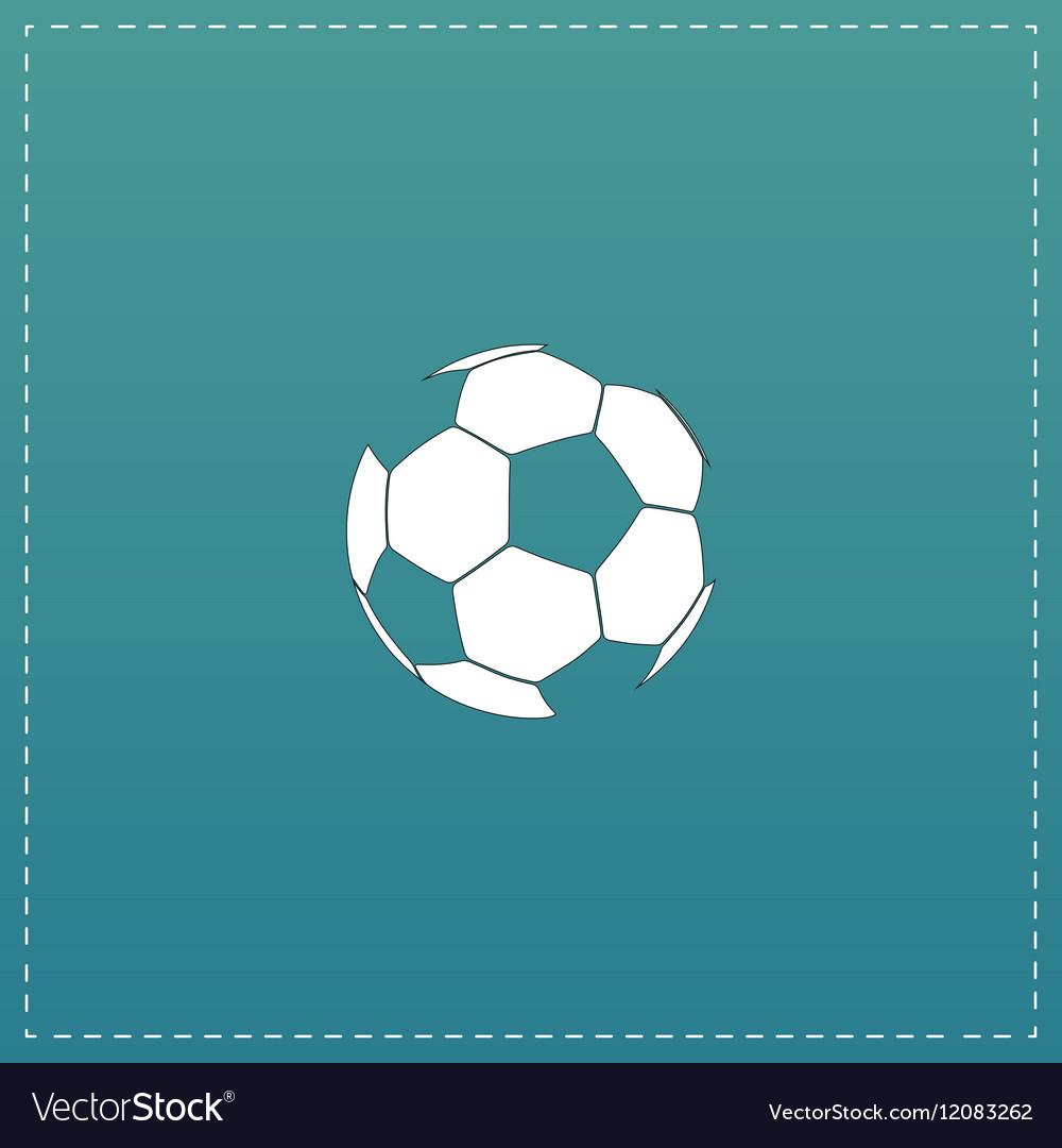 Football ball - soccer flat icon vector image