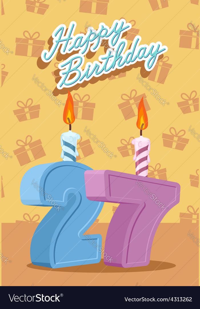 Открытка парню на 27 лет на день рождения, открытку