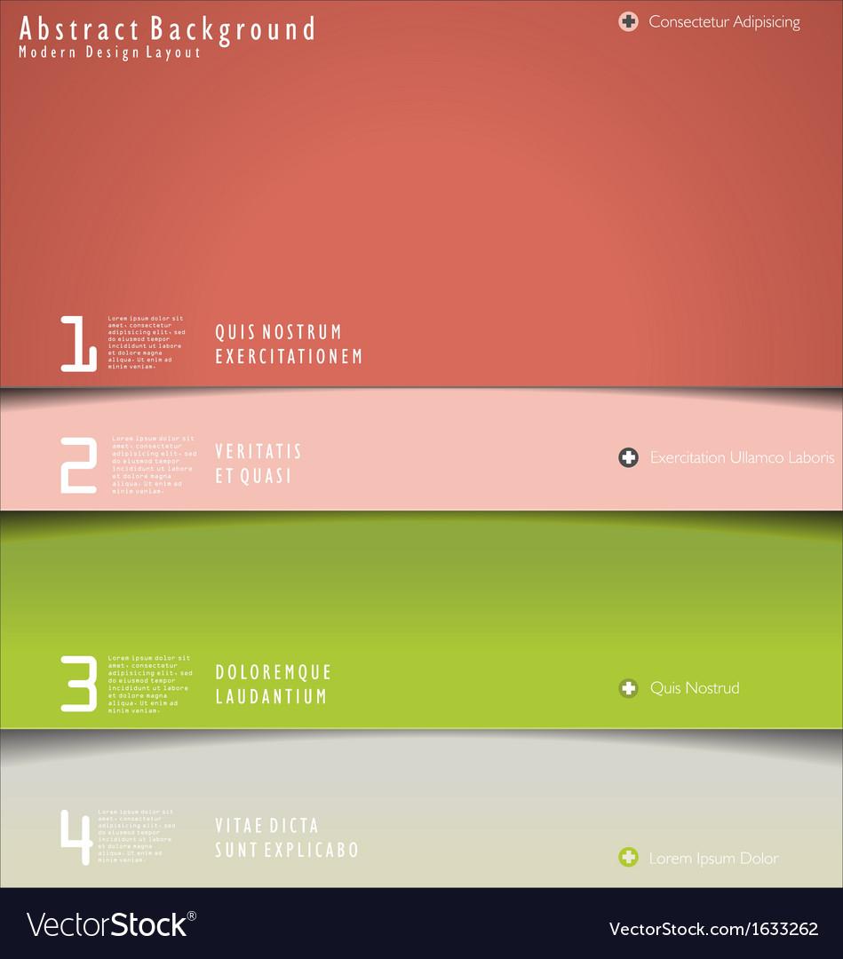 Modern design layout vector image