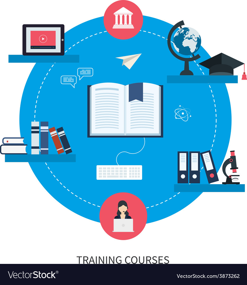Online Education And Courses Royalty Free Vector Image