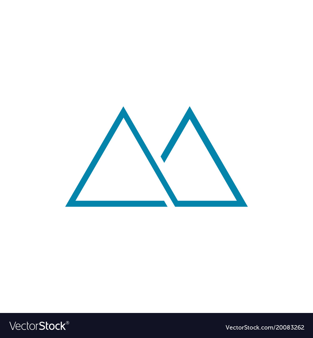 Thin line abstract mountain symbol