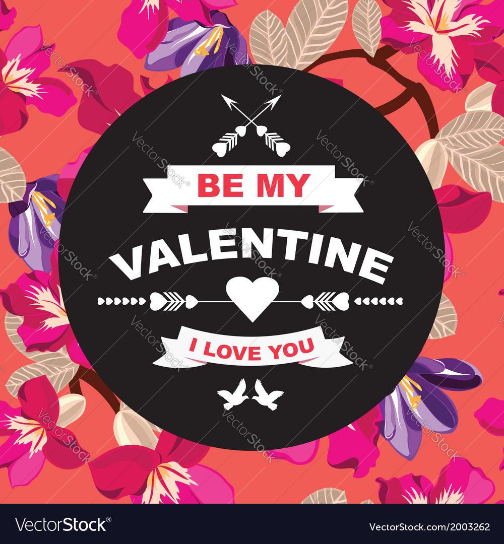 Valentines Day posterTypography