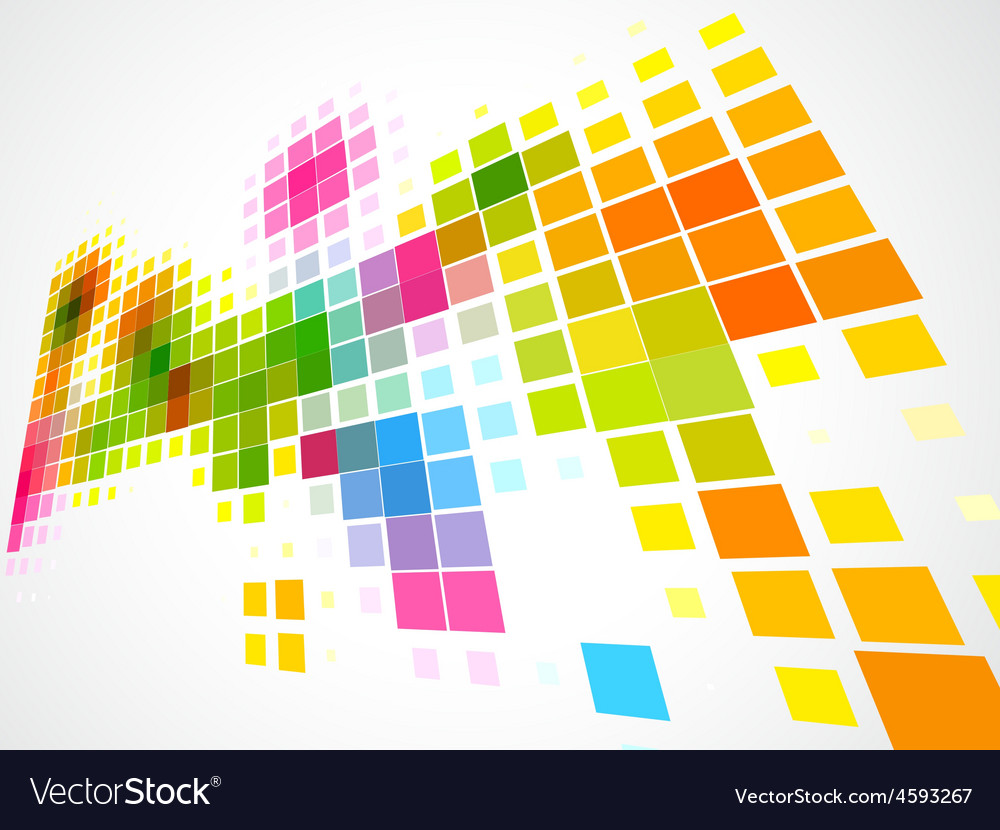 Colorful mosaic wave background