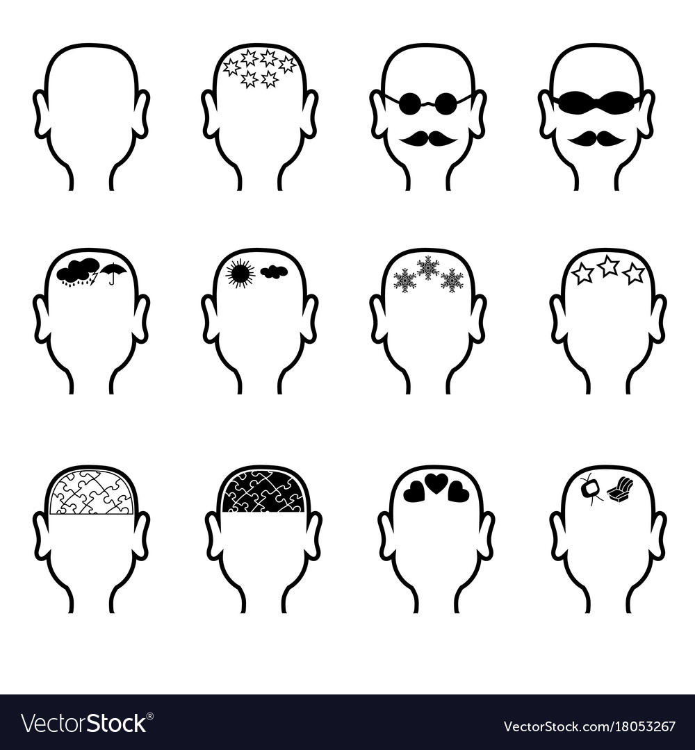 Empty mans heads outline