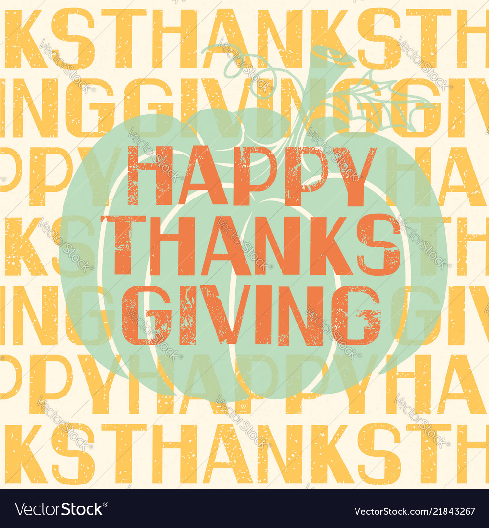 Happy thanksgiving day holiday card with