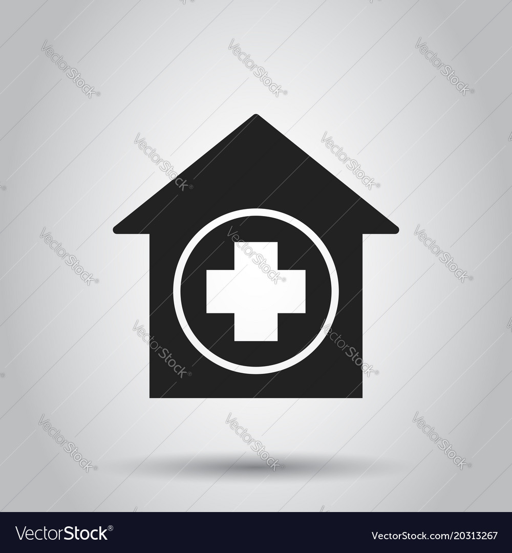 Hospital building icon infirmary medical clinic