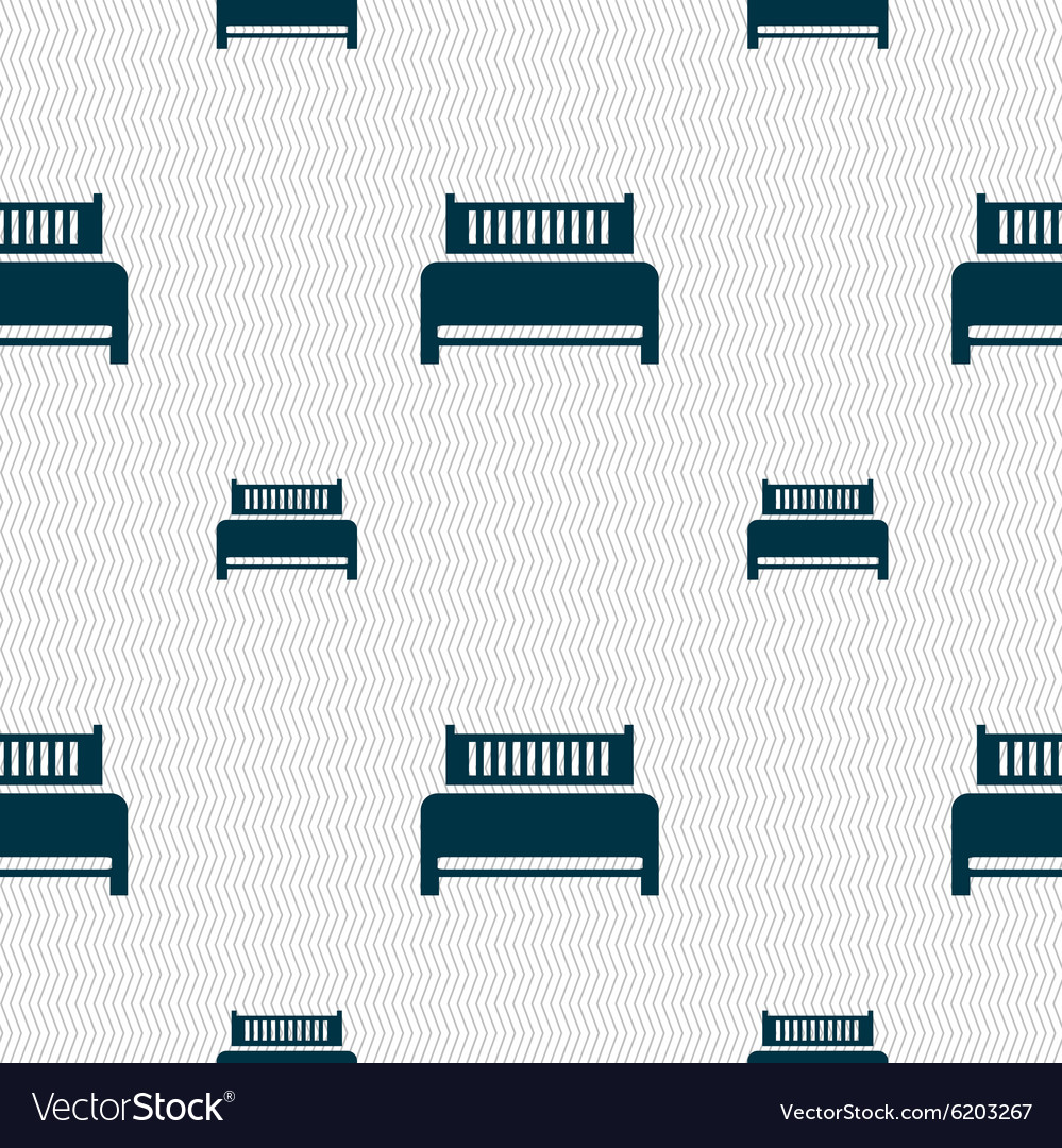 Hotel bed icon sign Seamless pattern with