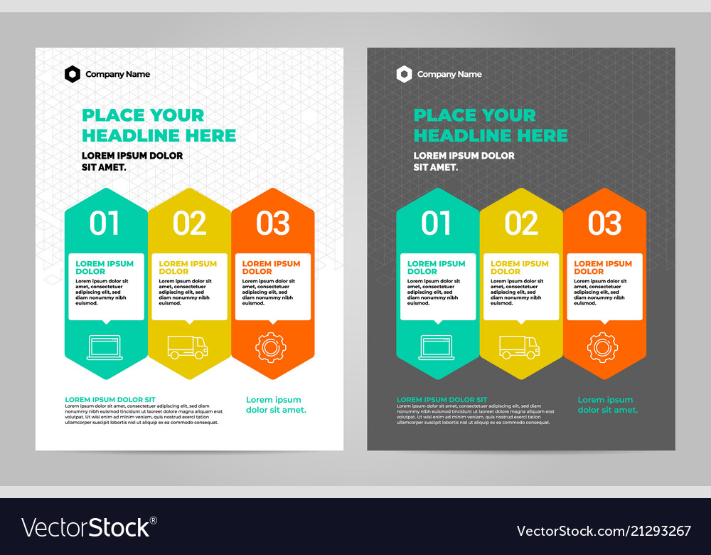Infographic Brochure Layout Template Design Vector Image