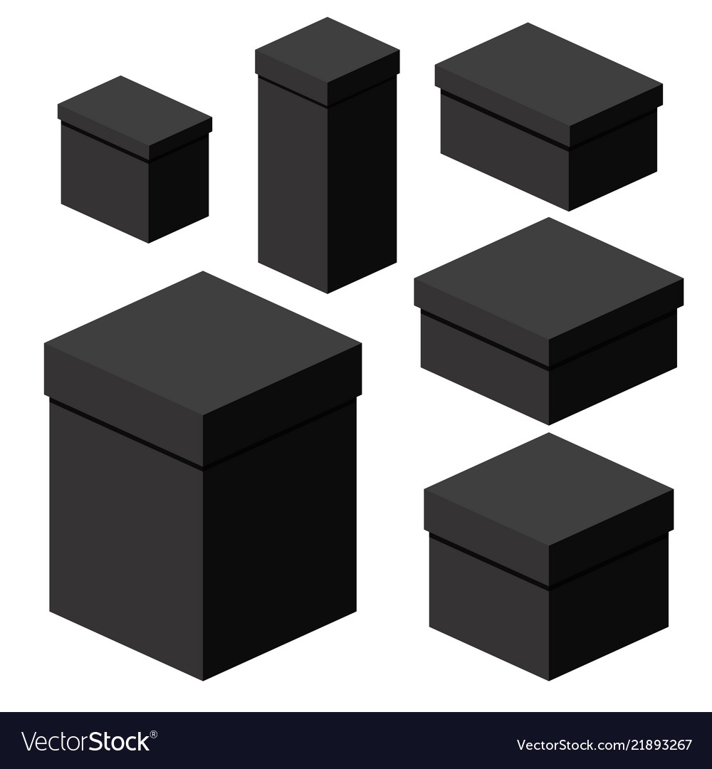 Isometric black boxes of different sizes for