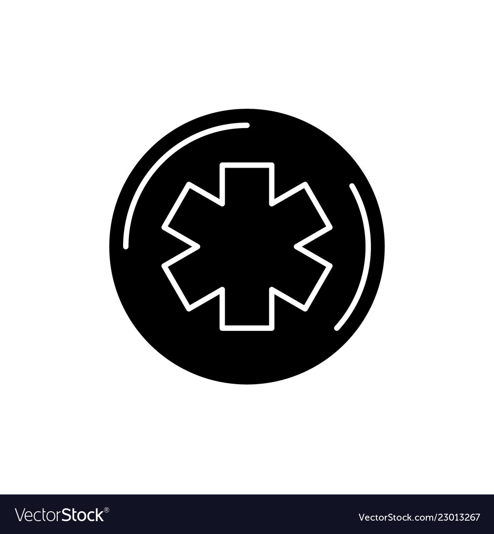 Medicine symbol black icon sign on