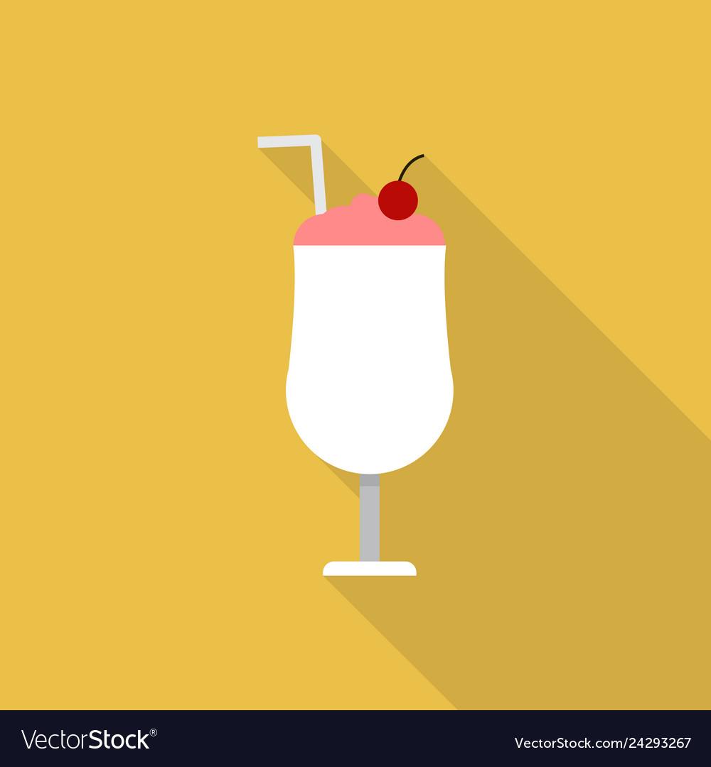 Milkshake icon set of great flat icons design