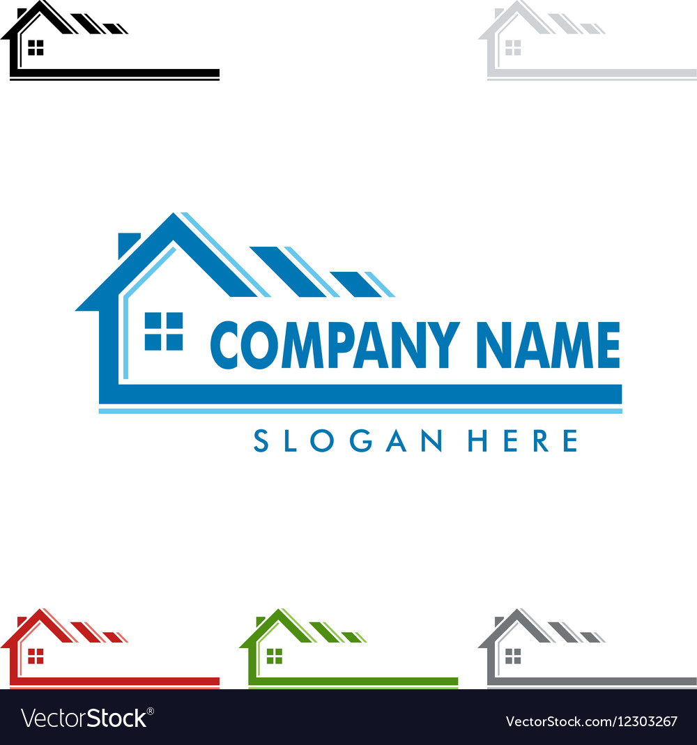 Real estate logo design home house logo Royalty Free Vector