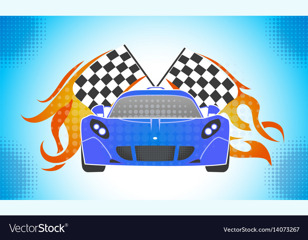 Sports cars retro style vector image