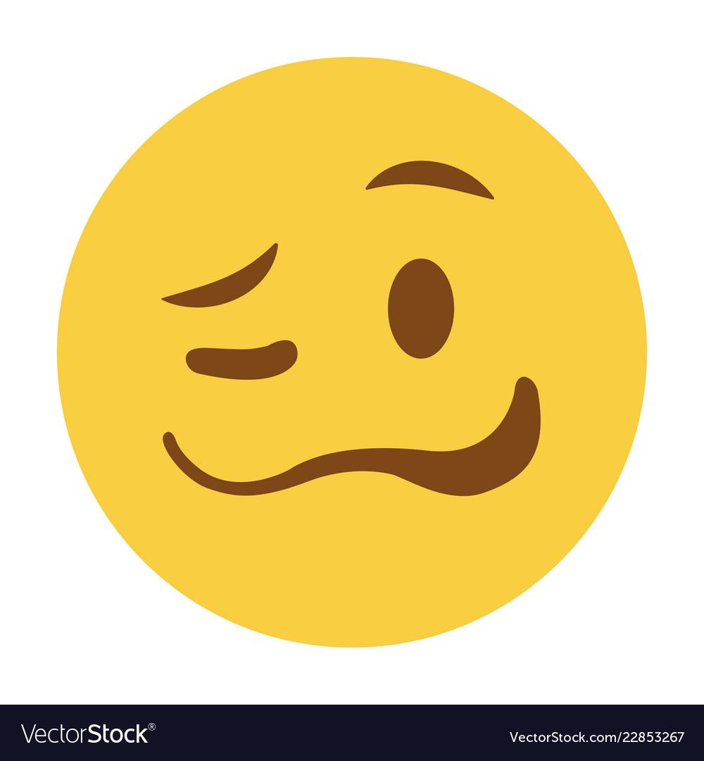 Woozy emoji funny face