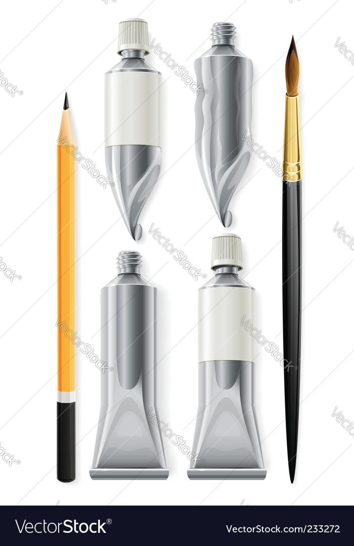 Artist tools vector image