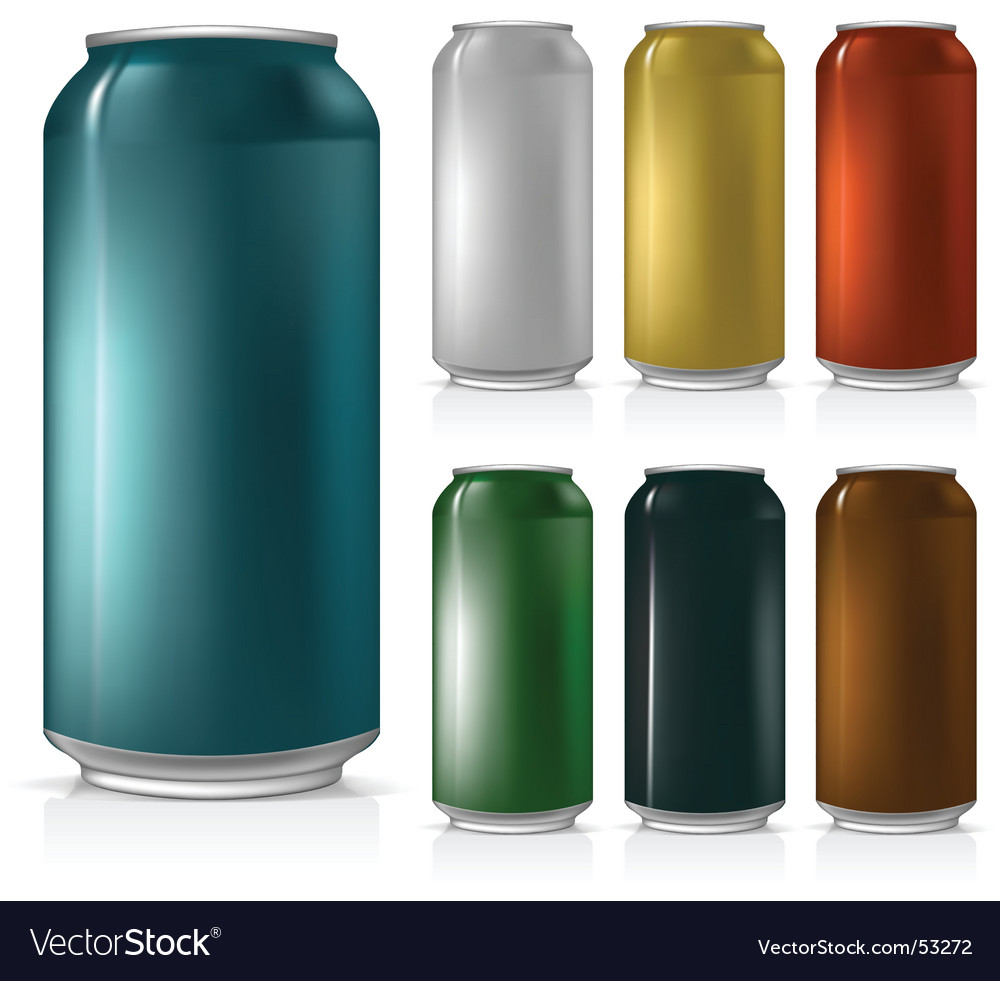 Beer can set vector image