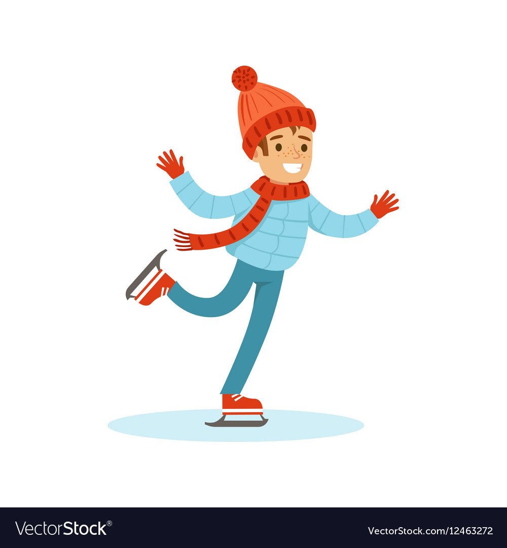 Рисунок мальчик на льду