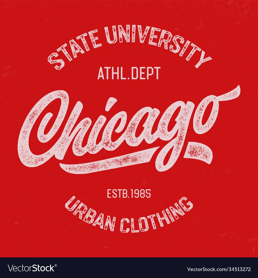 Chicago textured design for t shirt