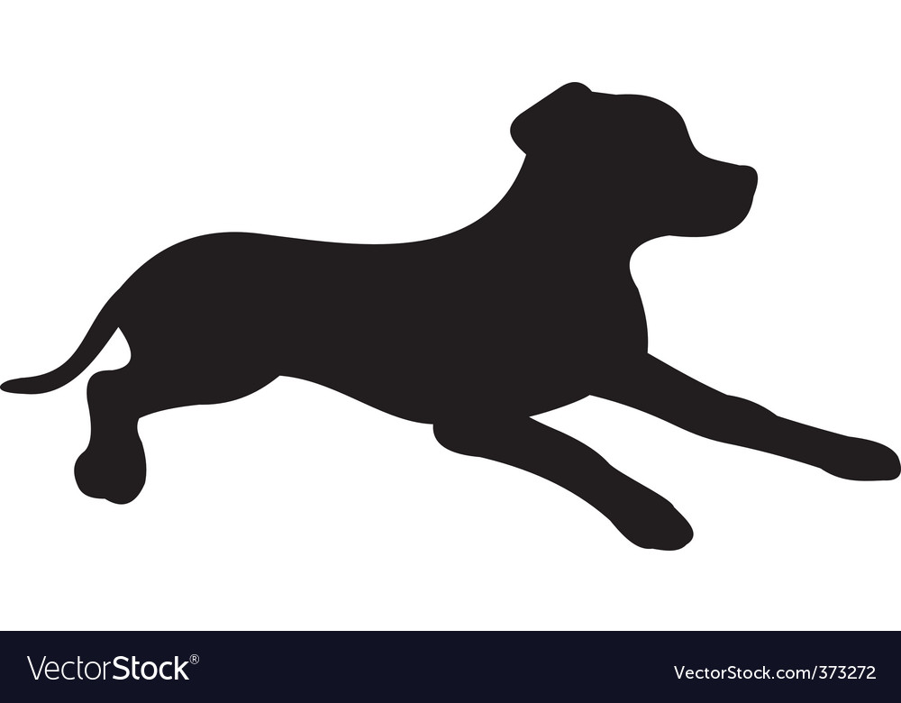 dog silhouette royalty free vector image vectorstock rh vectorstock com dog silhouette vector free dog running silhouette vector