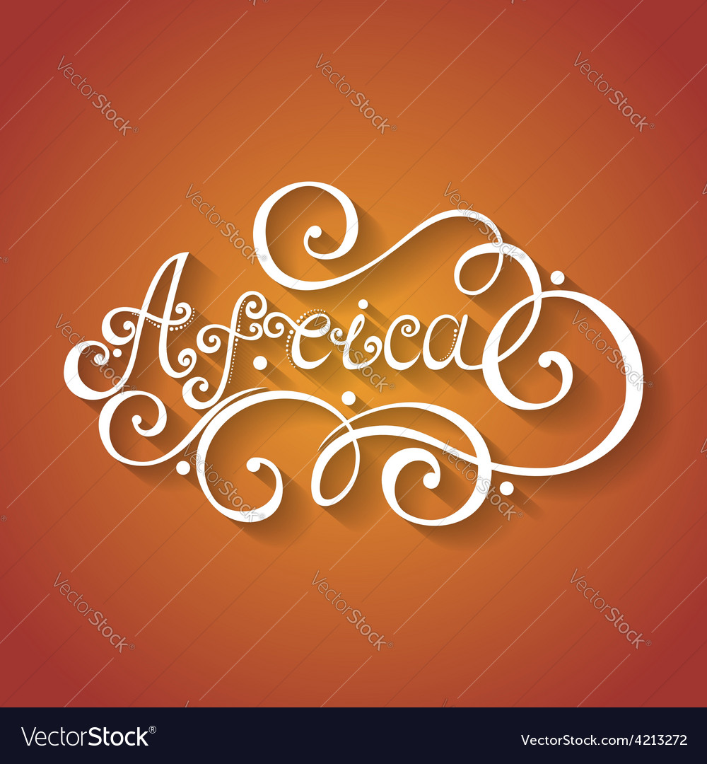 Fancy Lettering Design Royalty Free Vector Image