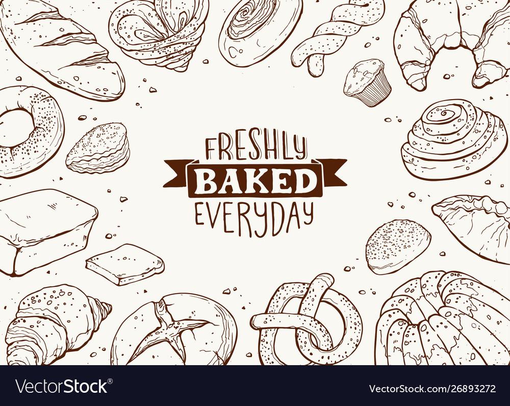 Fresh bread poster ilustration