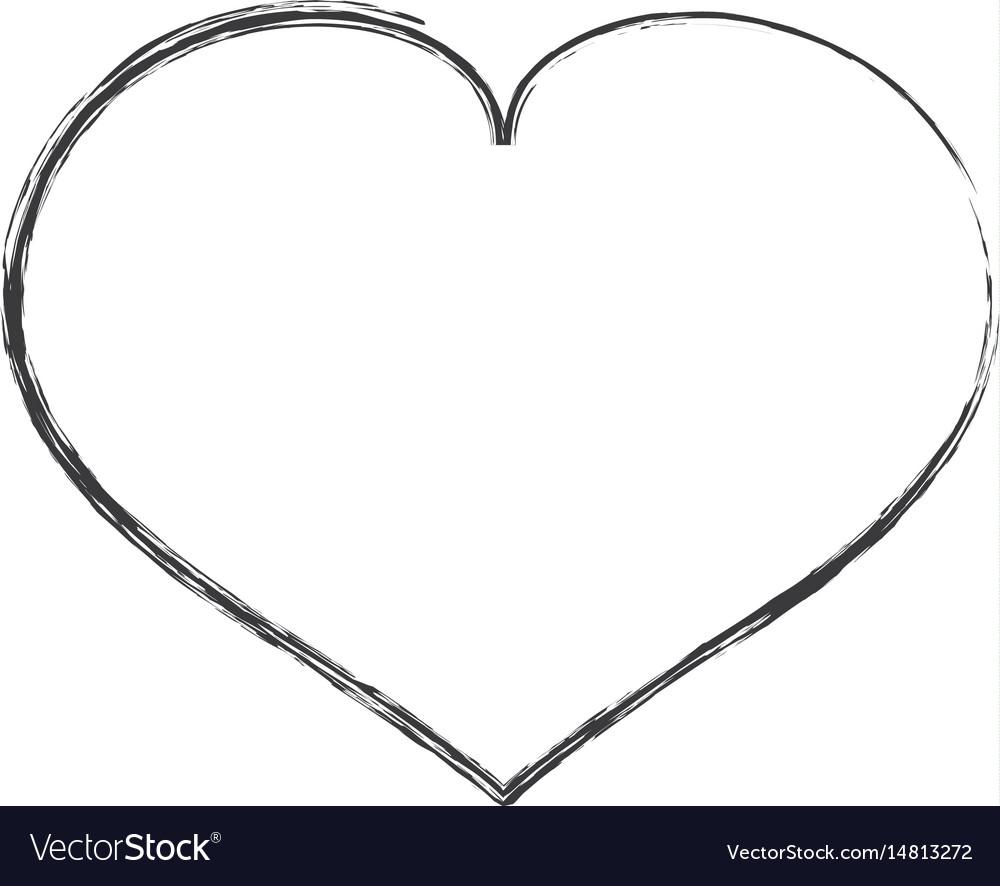 Heart Shape Symbol Royalty Free Vector Image Vectorstock
