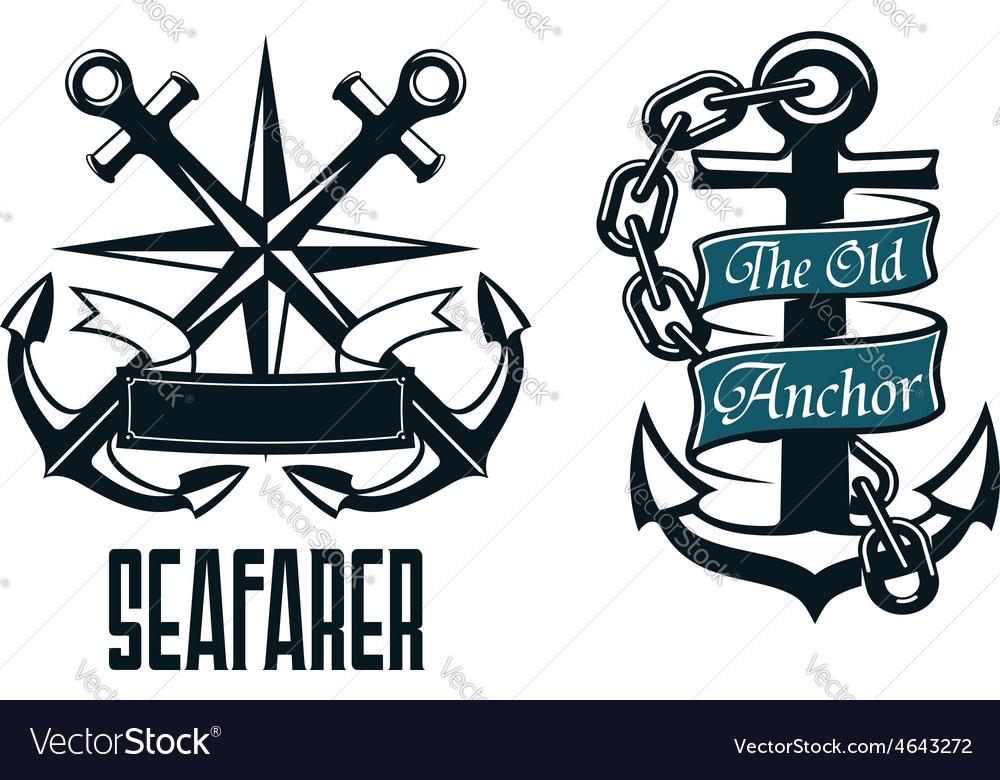 Seafarer marine heraldic emblem and symbol