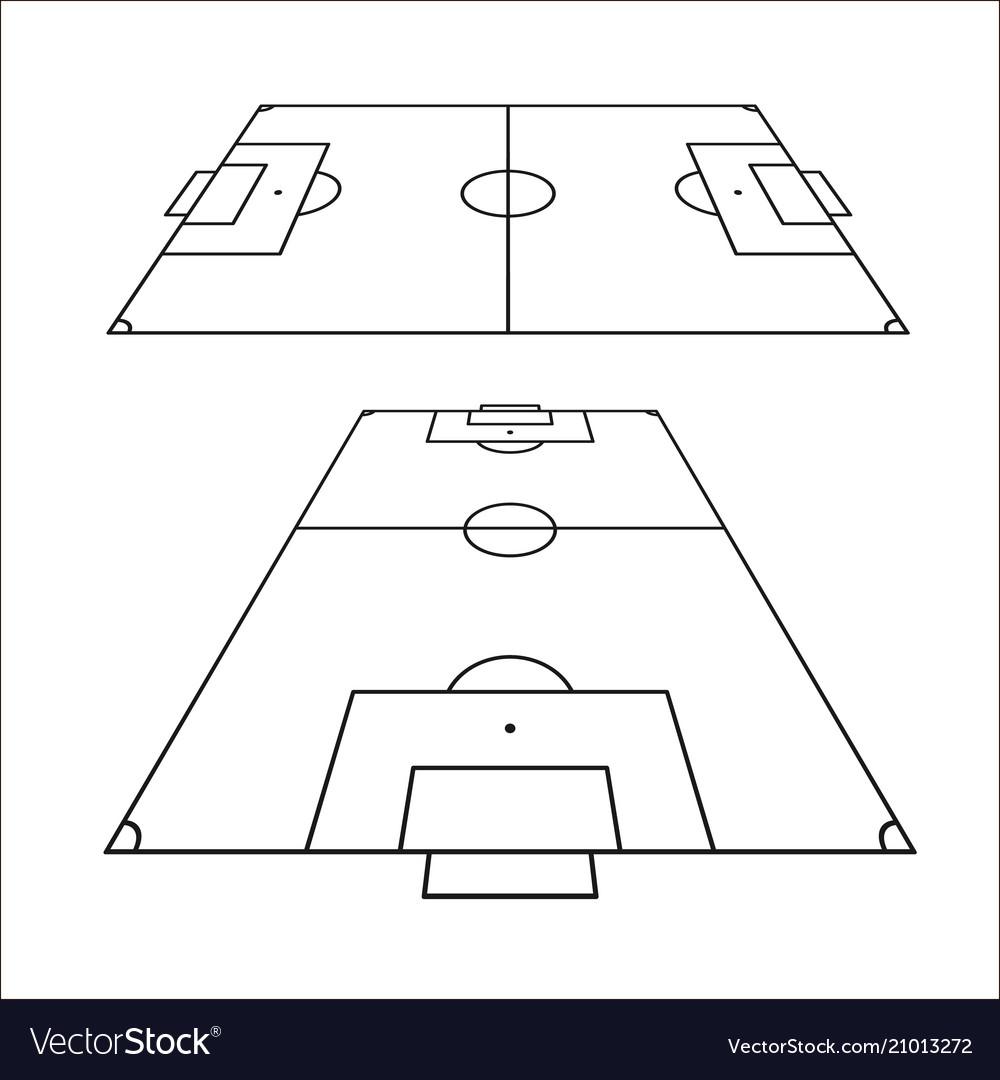 Sketch of soccer fields set football field design