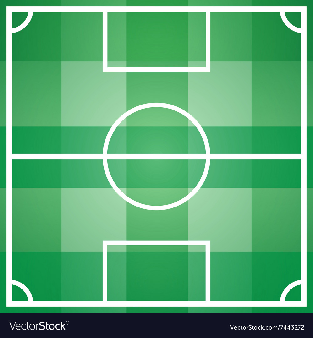 Soccer game field template with all main parts Vector Image