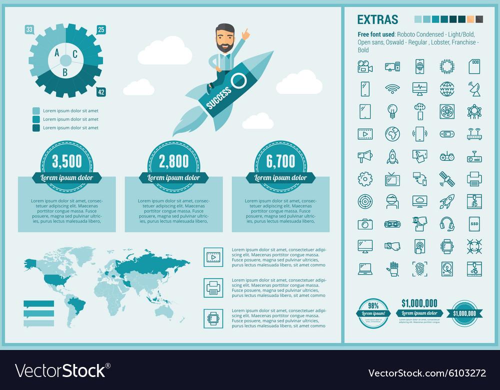Technology flat design Infographic Template