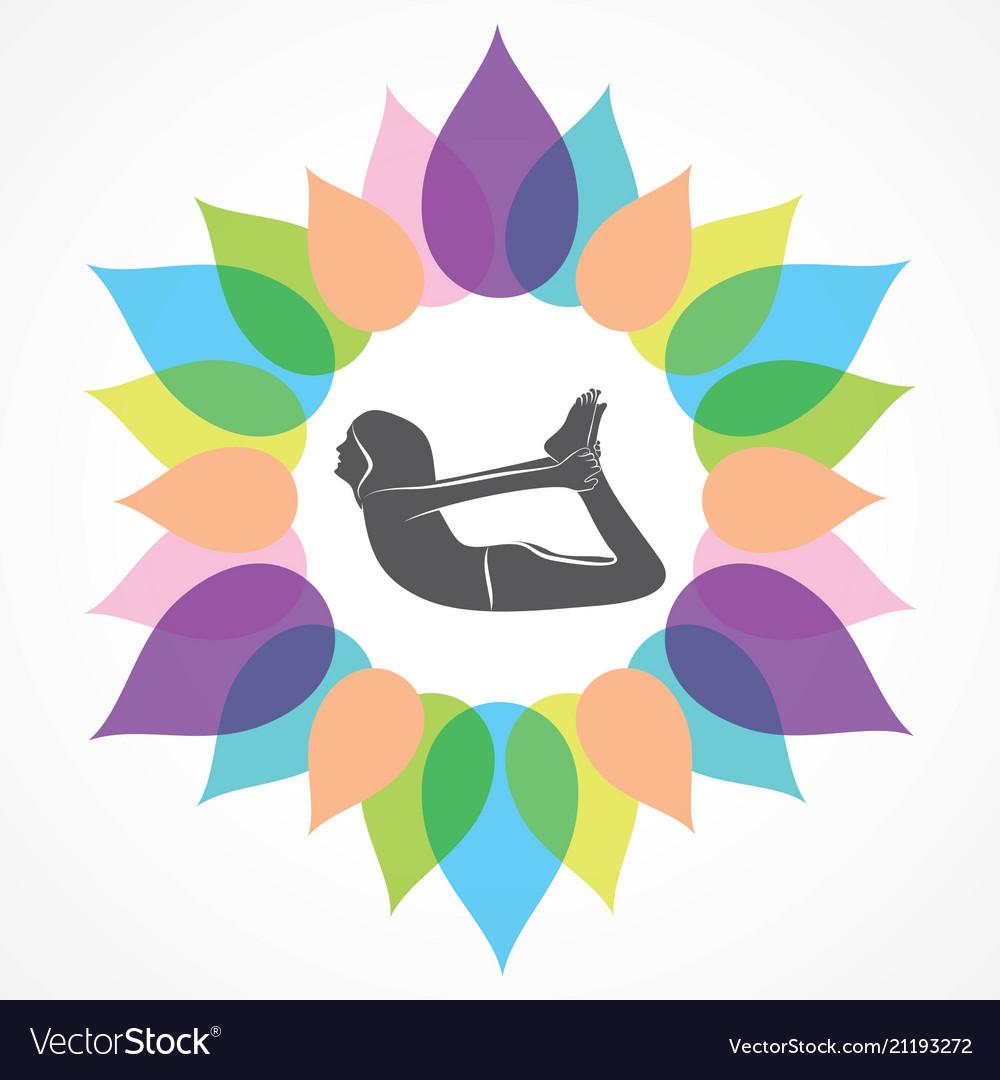 Woman doing yogasan