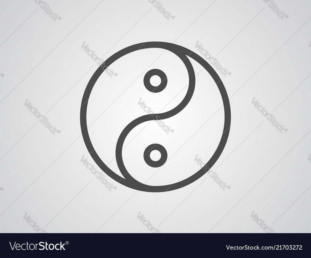 Ying Yang Icon Sign Symbol Royalty Free Vector Image
