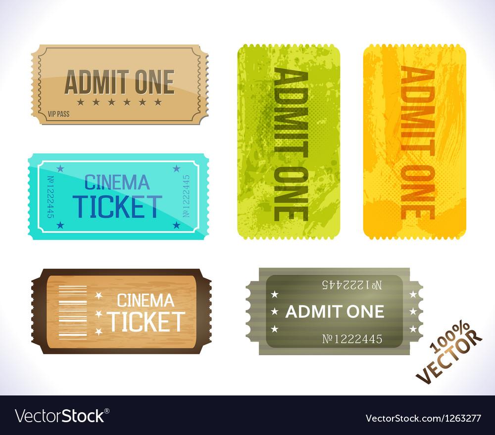 Admit one Different Stickers
