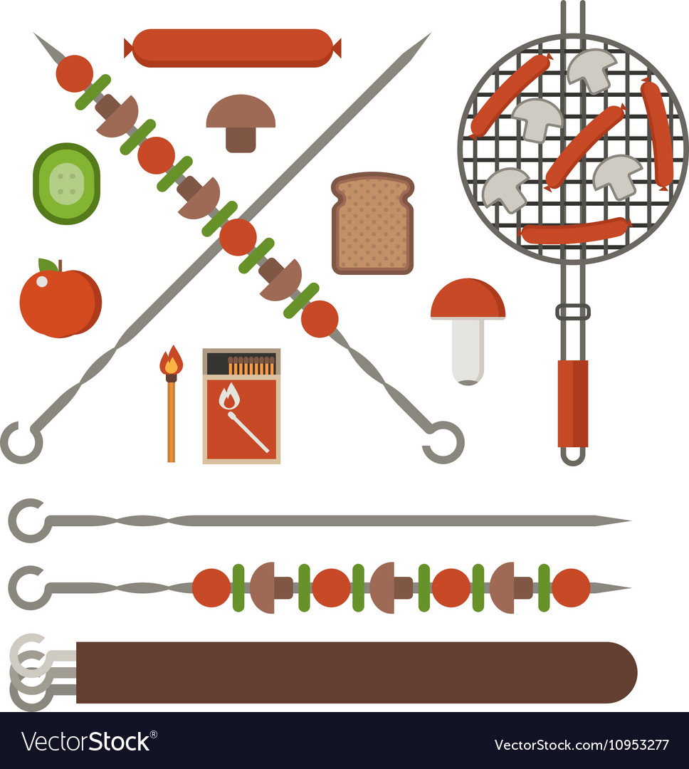 Barbecue Skewer Grill and Vegetables