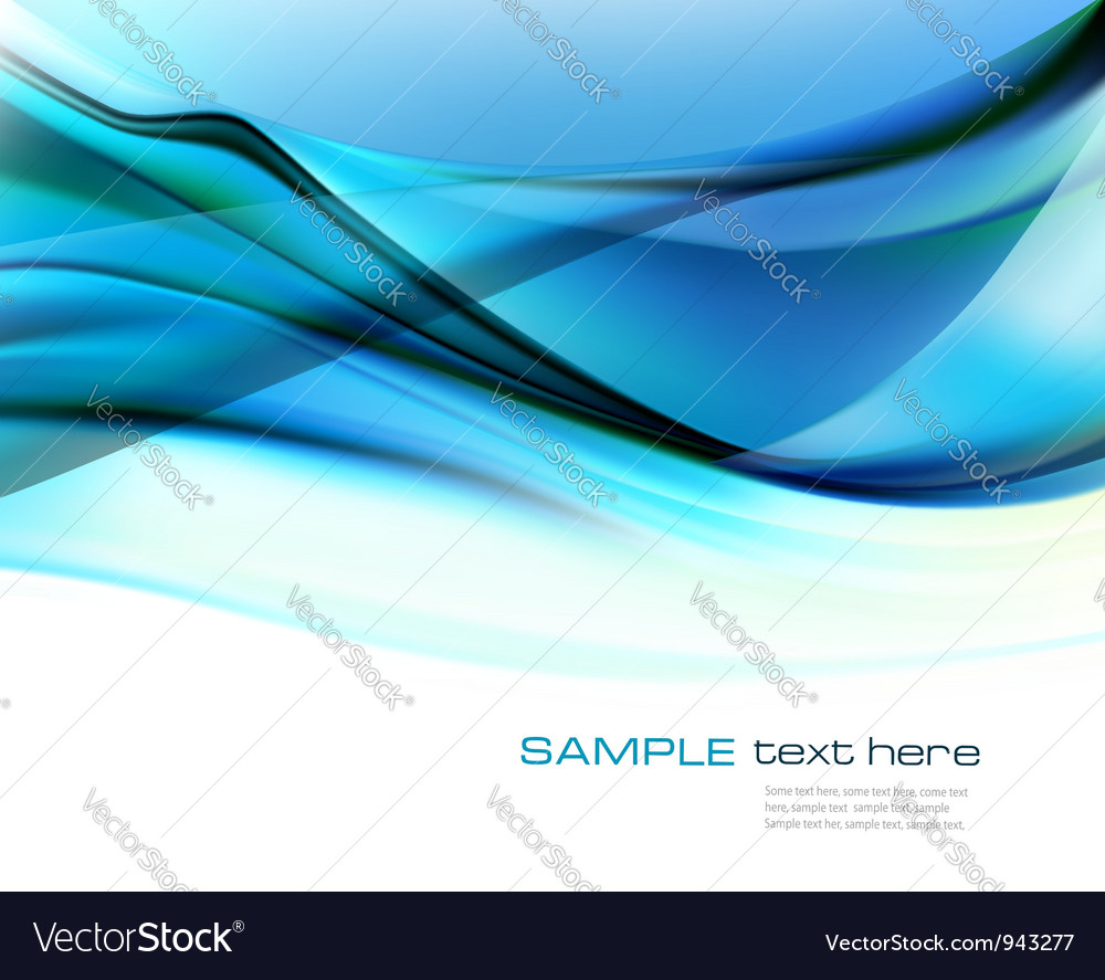 Blue transparent abstract background vector image