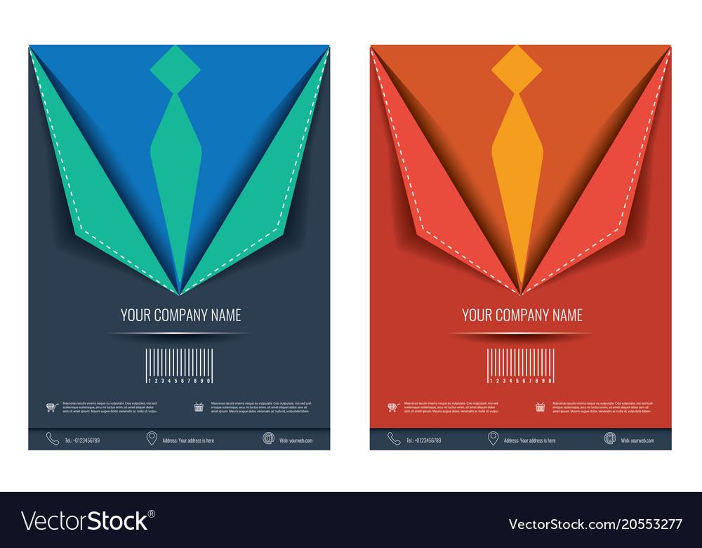 creative brochure flyer design layout royalty free vector