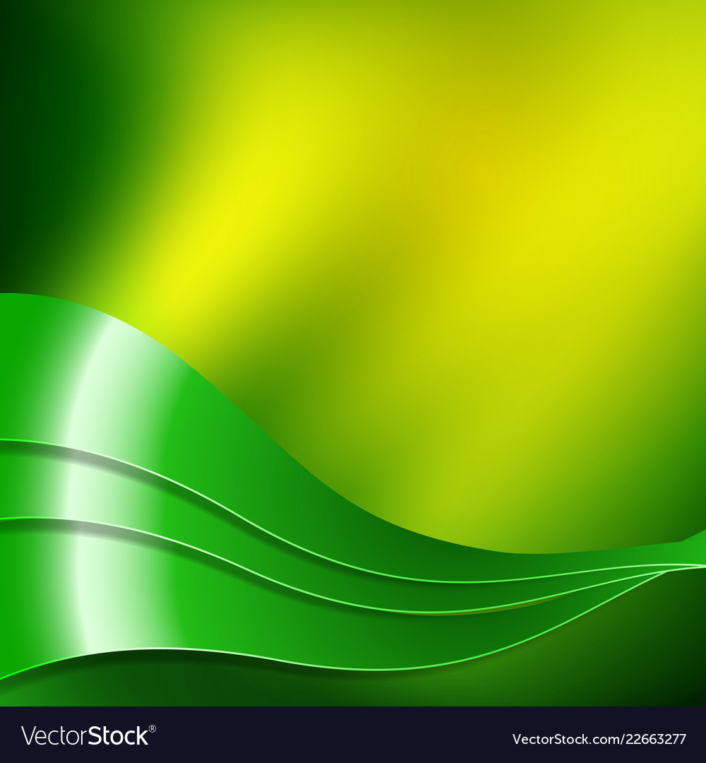 Green and yellow wavy design