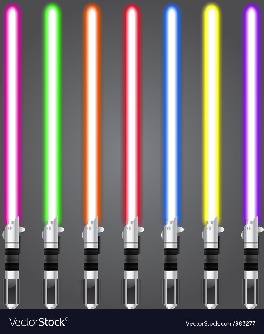 Lightsaber set vector image