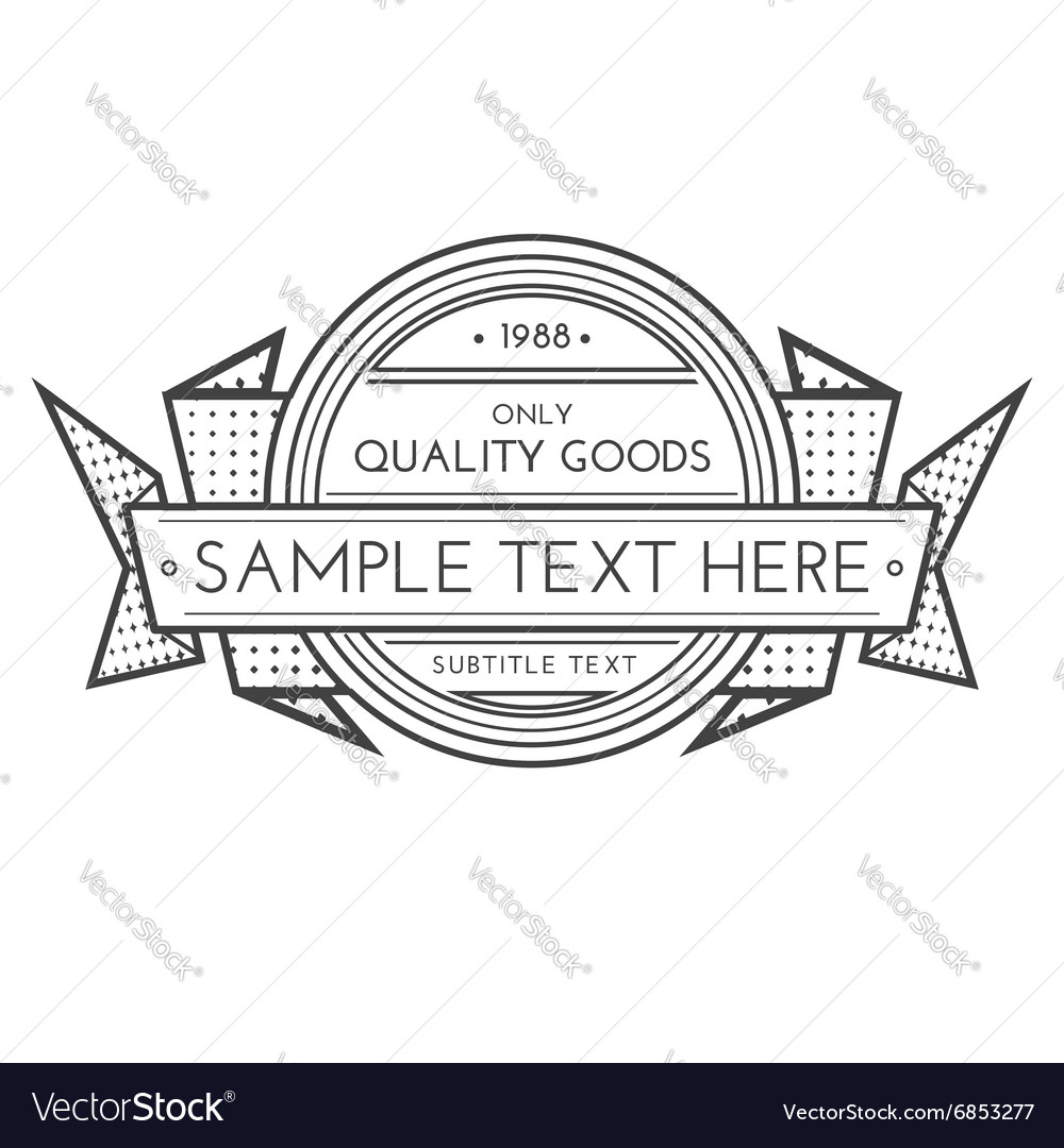 Outline retro banner template