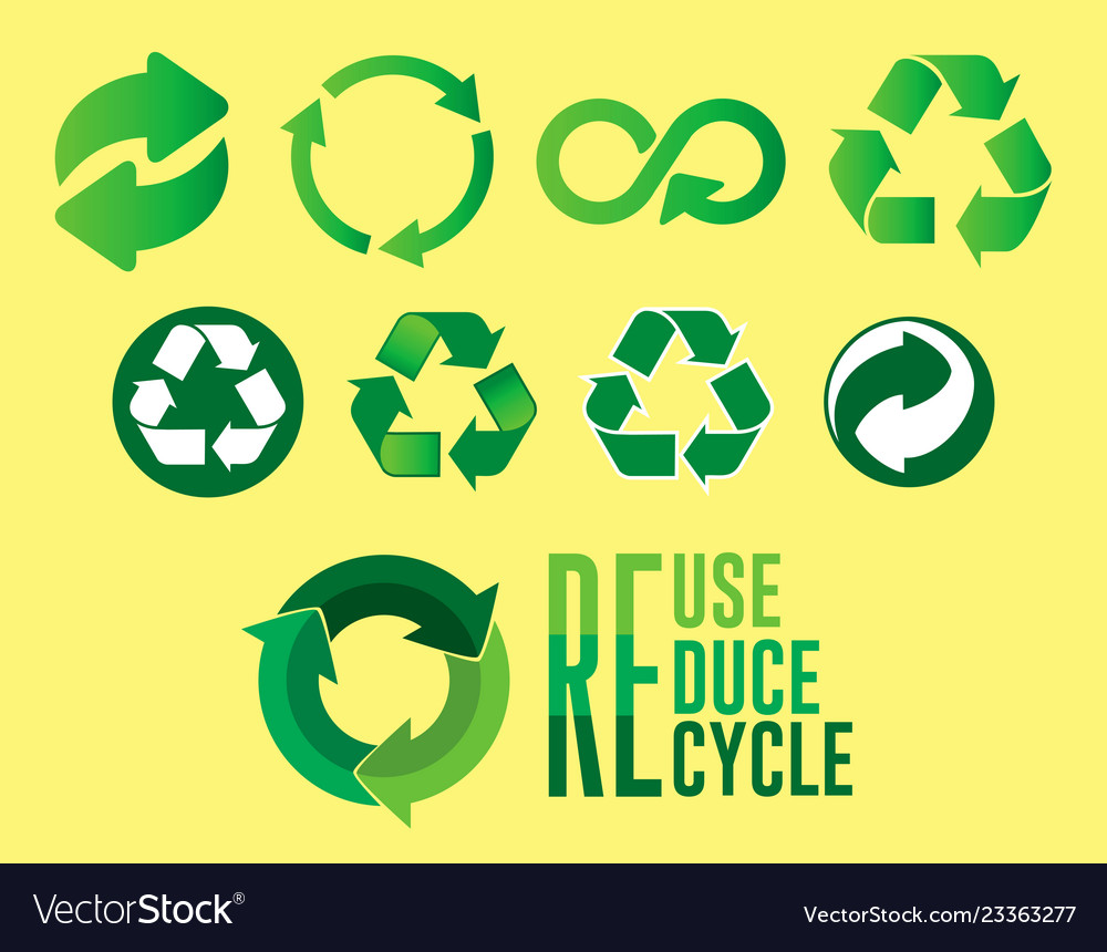 Set reduce reuse recycle concept