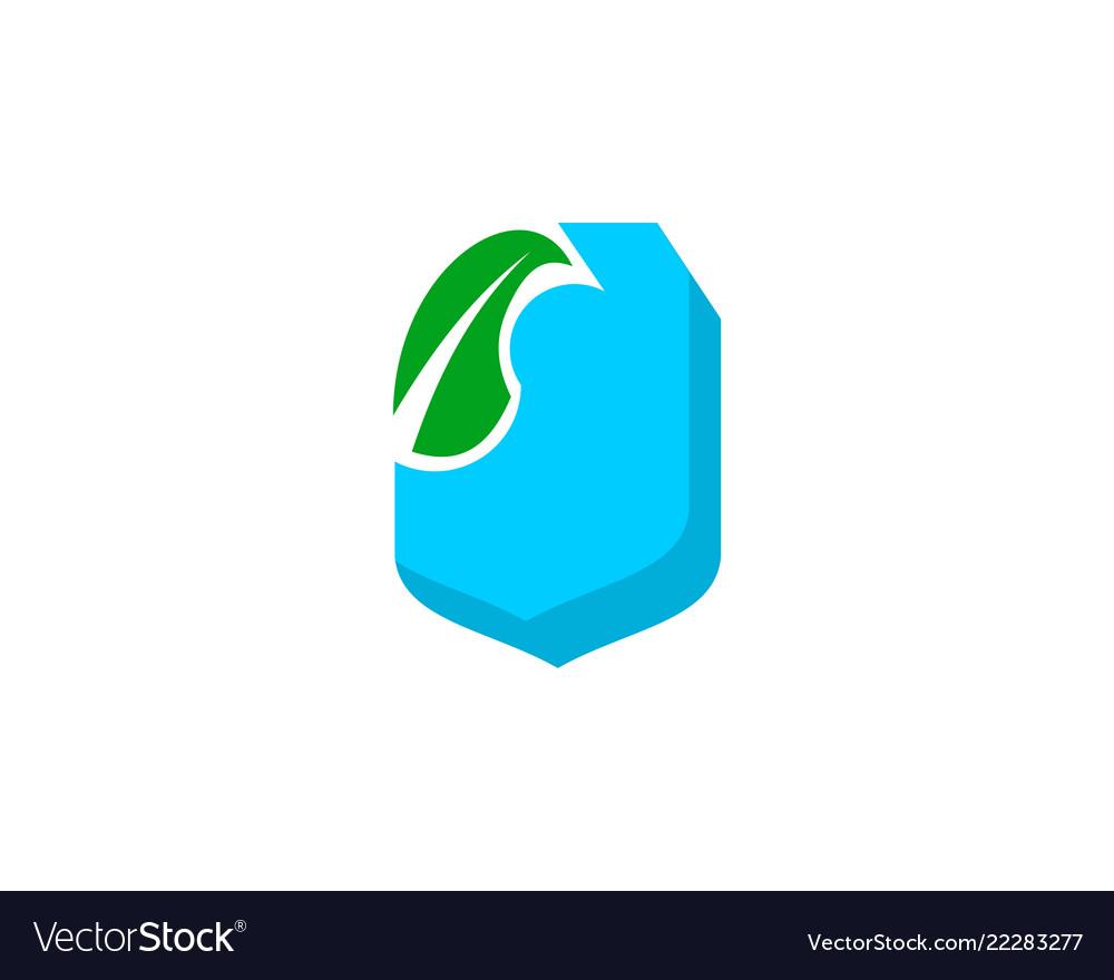 Shield farm logo design element