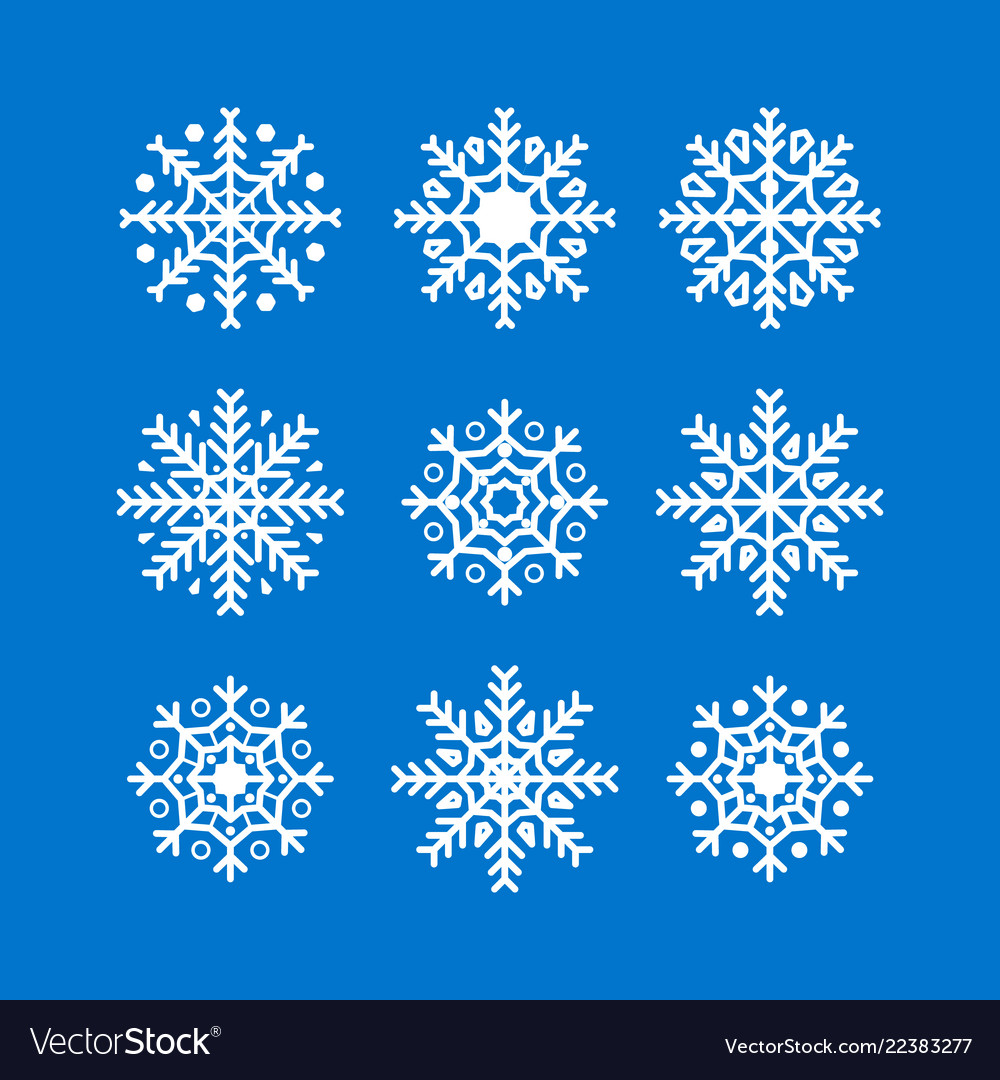 Snowflakes new year and christmas decoration