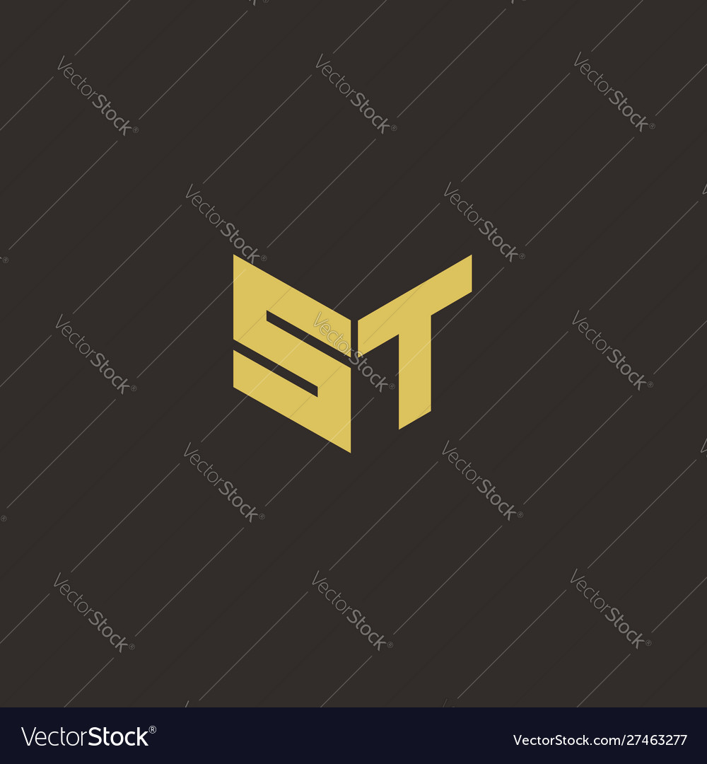 St Logo Letter Initial Logo Designs Template With