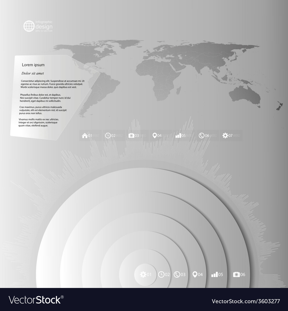World map in perspective infographic template for vector image gumiabroncs Images