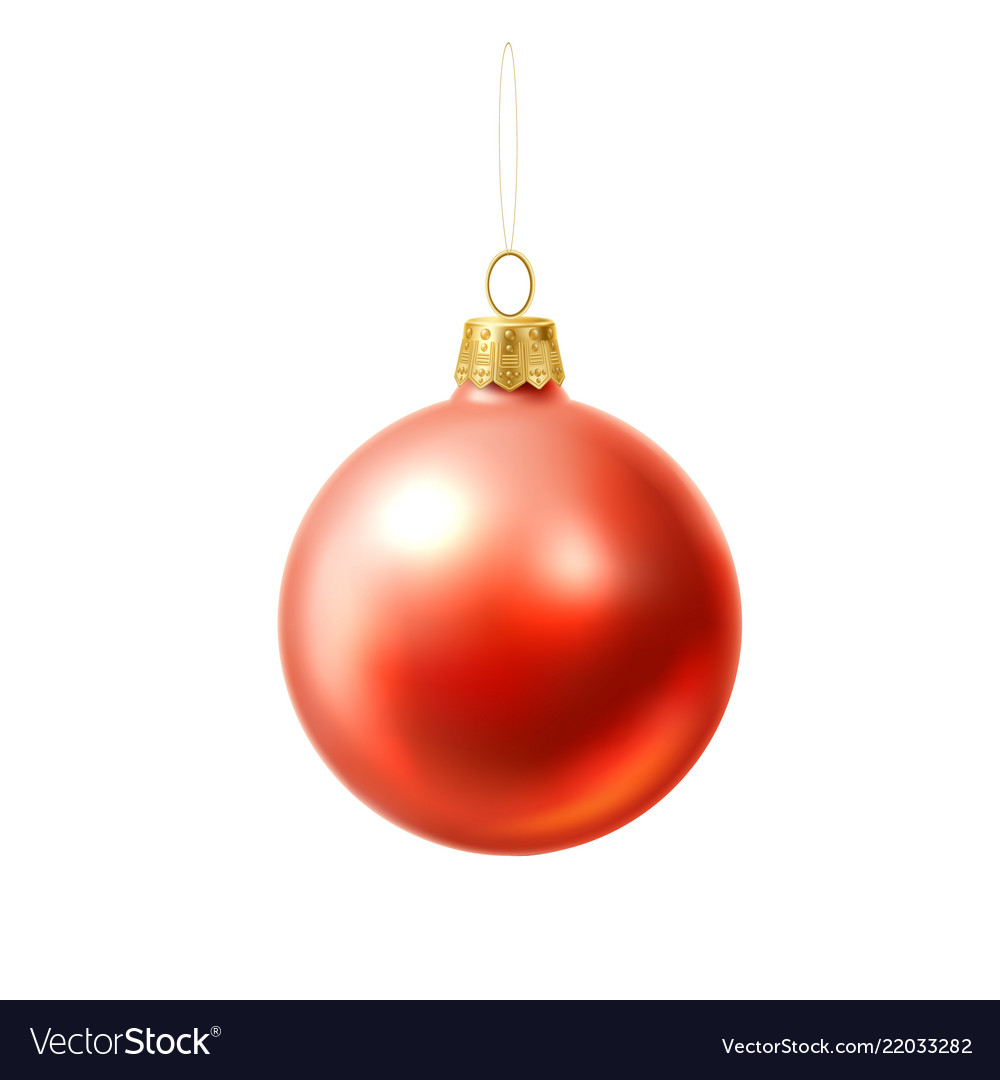 Christmas tree ball red realistic toy